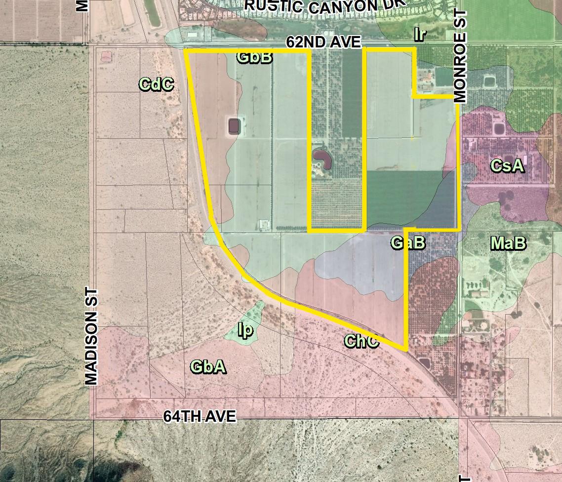 200 AC 62nd Ave Monroe St VSR Soils Map