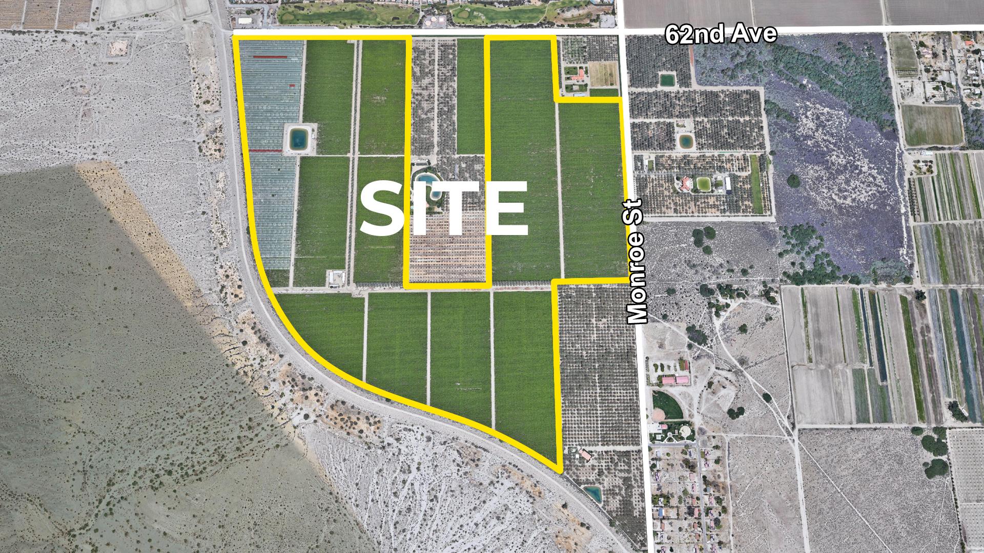 200 AC 62nd Ave Monroe St VSR Zoomed Aerial